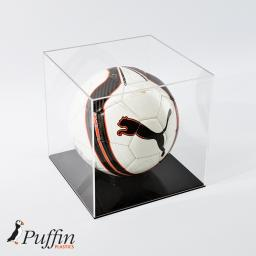 Football Display Case - Black Base