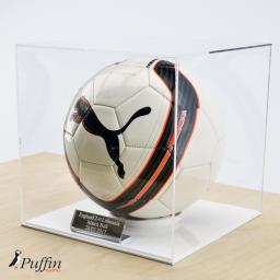 Football Display Case - White Base