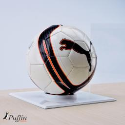 Football Display Case - White Base