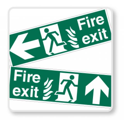 NHS Fire Exit Signs