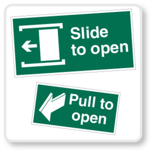 Emergency Escape Door Signs