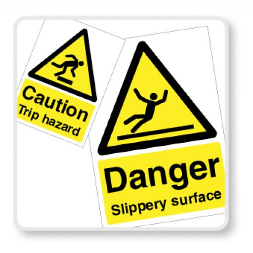 Slips, Trips & Fall Signs