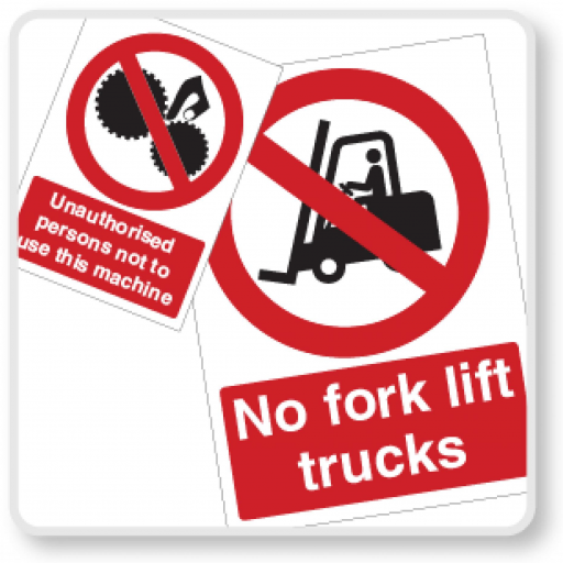 Machinery & Forklift Vehicle Safety Signs