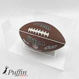 American Football Display Case - White Base
