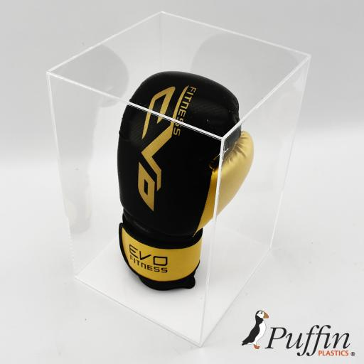 Boxing Glove Display Case - Single Portrait Colour Base