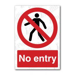 No Entry - Symbol with Person Sign