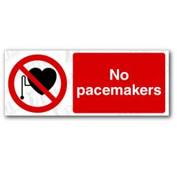 No Pacemakers Sign