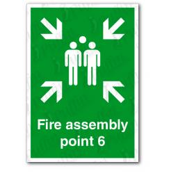 Fire Assembly Point 6 Sign
