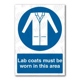 Lab Coats Must Be Worn In This Area Sign