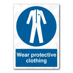 Wear Protective Clothing Sign