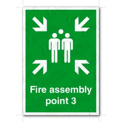 Fire Assembly Point 3 Sign