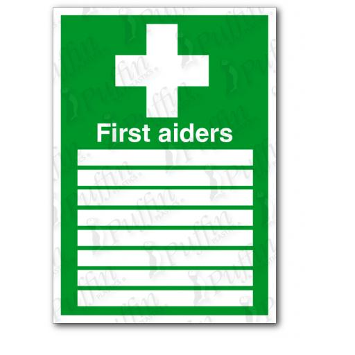 First Aiders Sign Sign