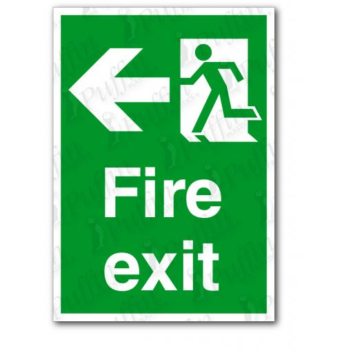 Fire Exit (Left) Sign