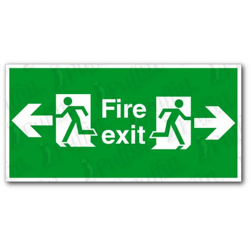 Fire Exit Left And Right Sign