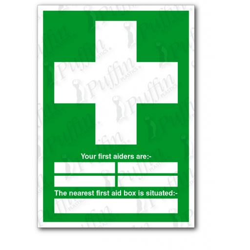 Your First Aiders Are Nearest First Aid Box Sign