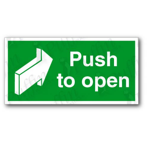 Push To Open Sign