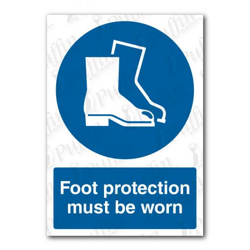 Foot Protection Must Be Worn Sign