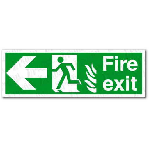 Fire Exit Left NHS Sign
