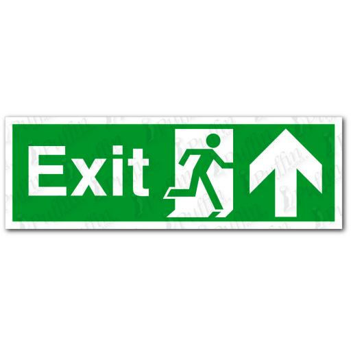 Exit Up Sign