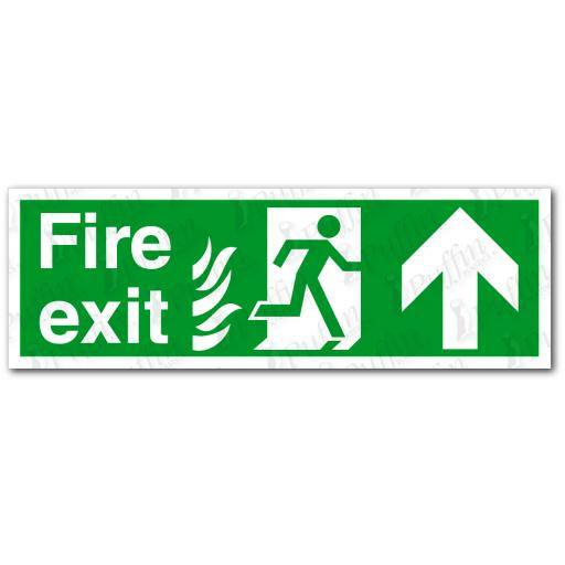 Fire Exit Up NHS Sign