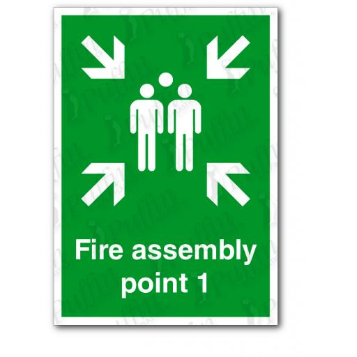 Fire Assembly Point 1 Sign