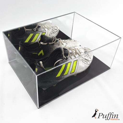 Rugby Boot Display Case - Double - Colour Base
