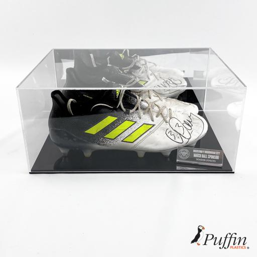 Rugby Boot Display Case Double - With Mirror Back