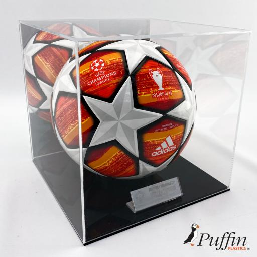 Football Display Case With Mirror Back