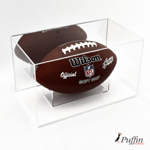 American Football Display Case - With Mirror Backing