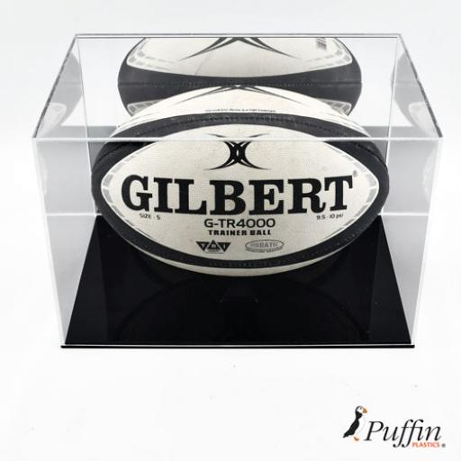 Rugby Ball Display Case (With Mirror Back)