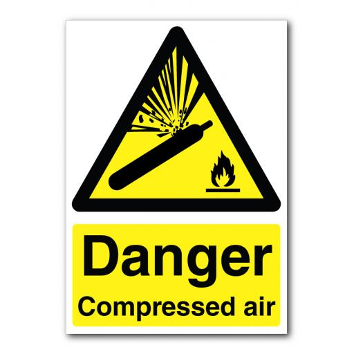 Danger Compressed Air Flammable Sign