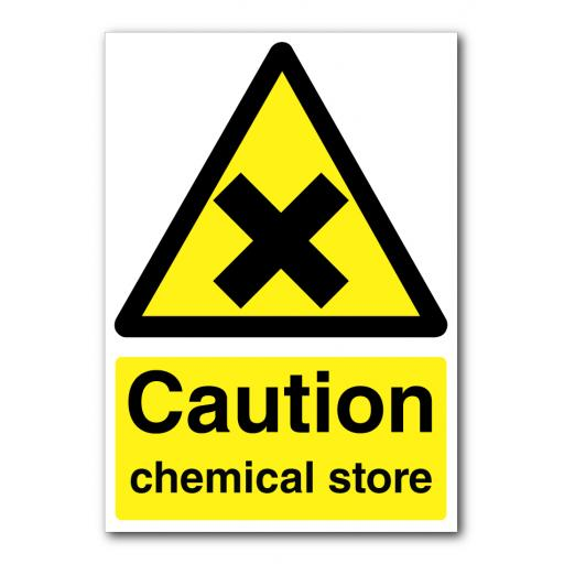 Caution Chemical Store Sign