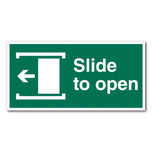 Slide To Open (Left) Sign