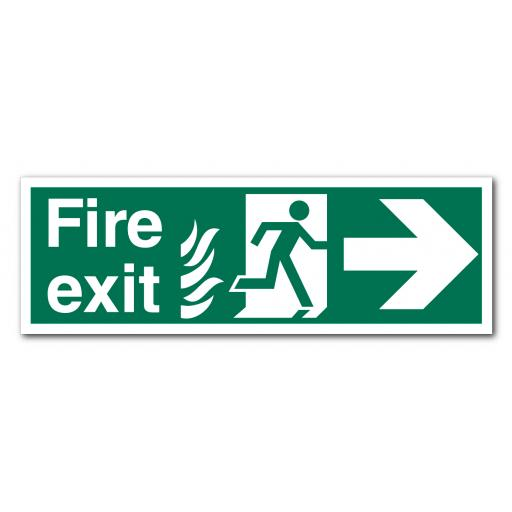 Fire Exit Right NHS Sign