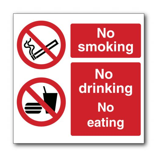 No Smoking No Drinking No Eating Sign