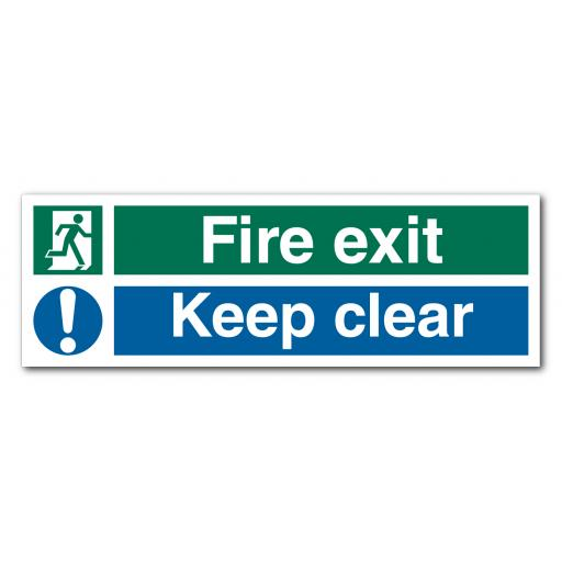 Fire Exit Keep Clear V2 Sign