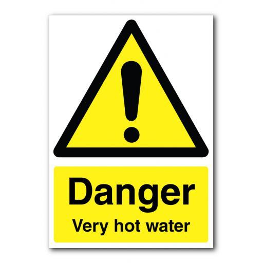 Danger Very Hot Water Sign