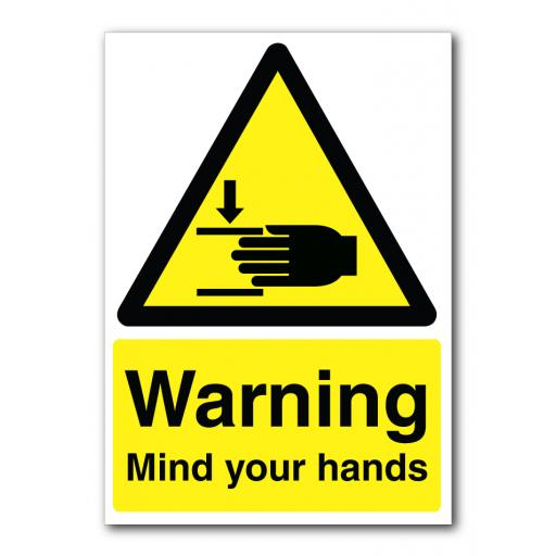 Warning Mind Your Hands Sign