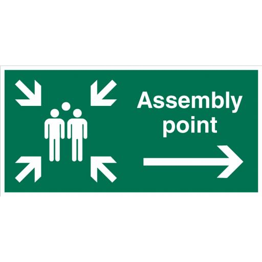 Assembly Point (Right) Sign