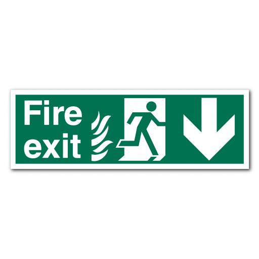Fire Exit Down NHS Sign
