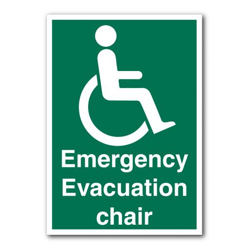 Emergency Evacuation Chair Sign