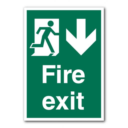 Fire Exit (Down) Sign