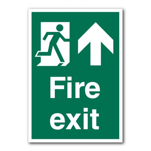 Fire Exit (Up) Sign