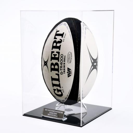 Deluxe Rugby Ball Display Case