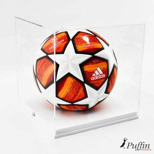 Football Display Case - Foamex Raised Base