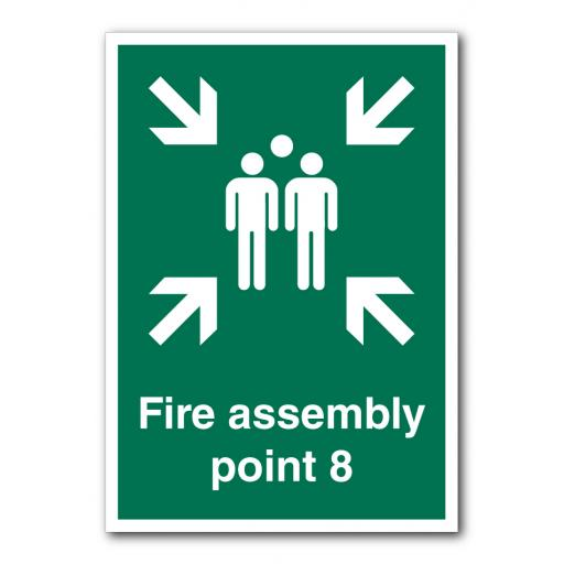 Fire Assembly Point 8 Sign