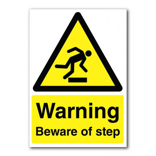 Warning Beware Of Step Sign