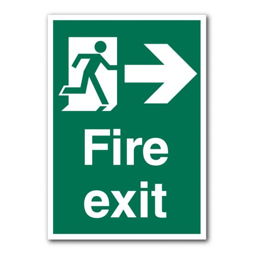Fire Exit (Right) Sign