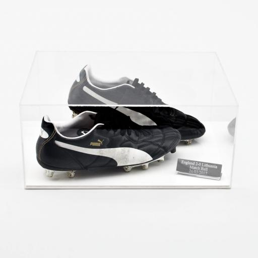 Football Boot Display Case - White (Double)