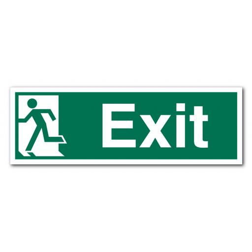 Exit Left No Arrow Sign
